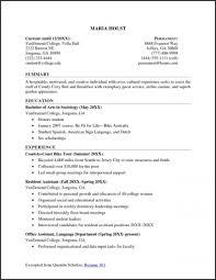 Bistrun Sample Resume For College Student Seeking Internship