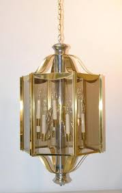 brass chrome 6 panel 12 light chandelier light