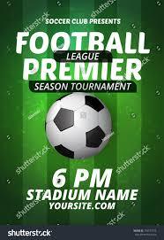 Football Invitation Template Soccer Football Tournament Championship Flyer Design Stock Vector