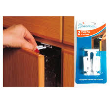 Childproof Cabinet Locks Amazoncom New 4 Pk Cabinet Drawer Latches Child Safety Cabinet