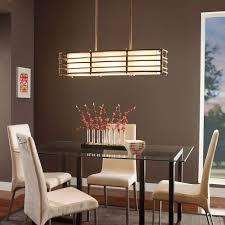 rectangular dining room lights. Dining Room Lighting Modern Deep Tone Background With A Subtle Sheen Rectangular Dark Brown Table Lights L