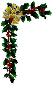 christmas menu borders corner garland clipart