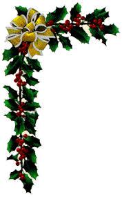 christmas menu borders corner garland clipart