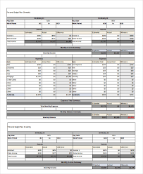 Weekly Monthly Budget Template Printable Monthly Budget Template 11 Free Excel Pdf Documents