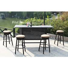 darlee classic cast aluminum round backless patio swivel counter height