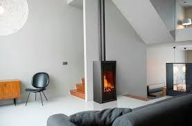 Freestanding Wood Fireplace Modern Home Design Ideas.