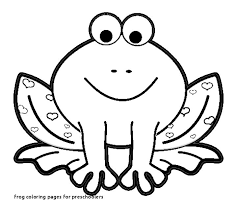 How To Draw A Sketch Of A Frog Awesome Frog Coloring Pages For