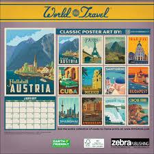 Travel Calendar World Travel Classic Posters Calendar 2019 Calendar Club Uk