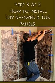 step 3 cut diy trim moldings for shower and tub wall panels