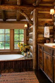 Rustic Cabin Bathroom, Rustic Bathrooms, Rustic Cabins, Log Cabins, Rustic  Homes, Cabin Furniture, Cabin Homes, Log Homes, Bathroom Windows