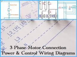 three phase motor power & control wiring diagrams 3 phase motor single phase transformer wiring diagram at Square D Step Up Transformer Wiring Diagram
