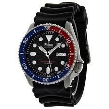 seiko diver watches jomashop seiko divers automatic blue dial black rubber strap men s watch