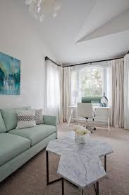 Painting Your Living Room Mint Sofa In A Contemporary Living Room Painting Pillow White