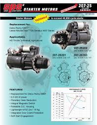 207 25 series starter motors replacing remy 50mt leece neville an