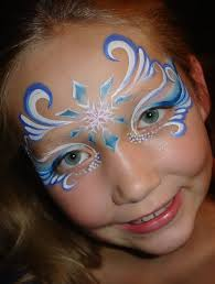 2016 you should see these gorgeous frozen face paint that fit the costumes so well