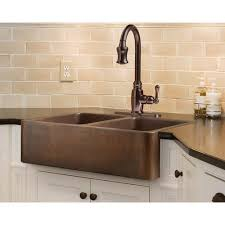 double bowl farmhouse apron copper sink 14 ga apron kitchen sink