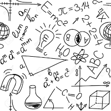 Mathematical And Physical Equations And Formulas Seamless Background