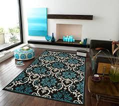 Image Fancy Black Image Unavailable Amazoncom Amazoncom Luxury Small Rugs For Bedroom Blue Area Rugs Entrance