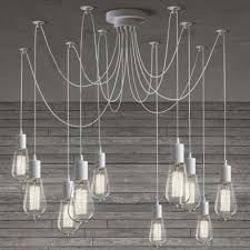 multi pendant lighting. gracefully white 10 light industrial style multi pendant swag lighting h