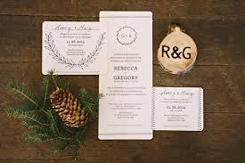 Rustic Winter Wedding Invitations Illustrated Wreath Wedding Invitations
