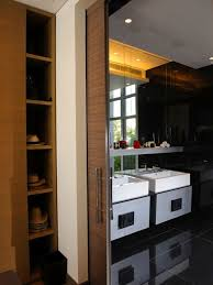 Inspiration for a contemporary bathroom remodel in Other with a vessel sink