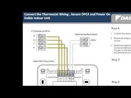 daikin envi installation 2 wiring youtube how to connect thermostat wires to ac unit at How To Install An Air Conditioner Thermostat Wiring Diagram