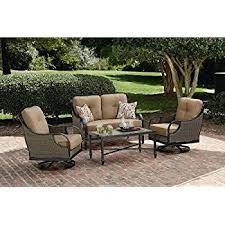 Amazoncom  LaZBoy Outdoor Charlotte 4 Piece Seating Set Outdoor Furniture Charlotte