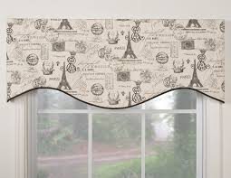 Paris Themed Bedroom Curtains Paris Motifs Bay Window Valance Rodcan Be Decoration Ideas Inside