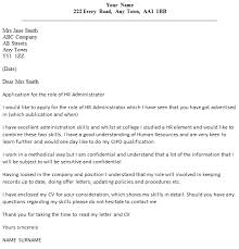 hr administrator cover letter example examples of cover letters for administrative positions