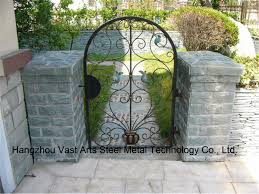 wrought iron fence gate. China Haohan High-Quality Exterior Security Decorative Wrought Iron Fence Gate 21 - Gate, Door