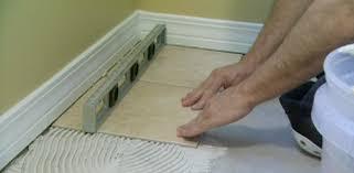 how to tile over vinyl flooring
