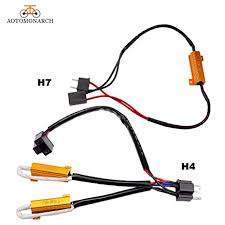 aotomonarch h7 led decoder car lights bulbs resistor for h4 h8 h9 Can Bus Controller Wiring at Can Bus Wiring Harness