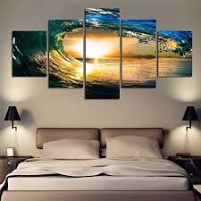green sea waves modern canvas art wall decor ocean canvas wall art with stretched