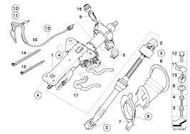 Bmw steering column man adjust mount parts