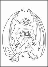 He is very tall and big, he only has one eye and cannot speak at all. Gargoyles Coloring Pages L0