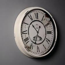 inch rustic retro iron handicraft wall clock vintage home decor offbeat and chic creative mute quartz