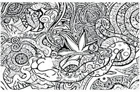 Coloring Pages Mushrooms Page Adult Beautiful Psychedelic For Adults