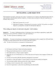 Career Goal Examples For Resume Example Resume Top Objectives Examples Skills And Pertaining To 60