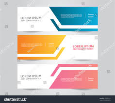 tamplate set banner template modern colorful business stock vektorgrafik