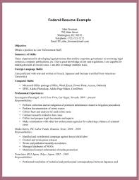 Federal Resume Examples Online Marketing Sa Sevte
