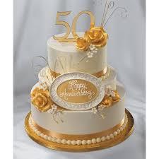Golden Anniversary Cake Decopac