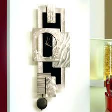 metal wall art clock wondrous modern abstract decor sculpture inspired retro clocks uk