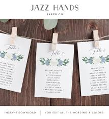 Wedding Seating Chart Wording Wedding Seating Chart Cards Template With Dusty Blue And