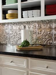 Diy Tile Backsplash Kitchen How To Install A Tin Tile Backsplash How Tos Diy