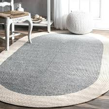 oval rugs 7x9 casual handmade braided solid border grey oval rug oval braided rugs 7x9