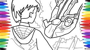 Coloring pages for learning numbers and colors for preschool and kindergarten. Spider Man Into The Spiderverse Spiderman Coloring Pages Coloring Spiderverse Memorable Scenes Youtube