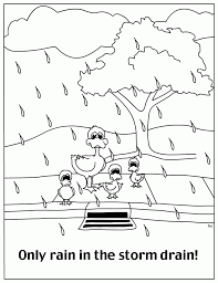 Coloring PAGE WATER CYCLE Many Interesting Cliparts