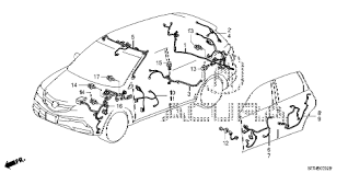 acura online store 2008 mdx wire harness (3) parts Jeep Wiring Harness Diagram at 2008 Honda 3 5 Wiring Harness