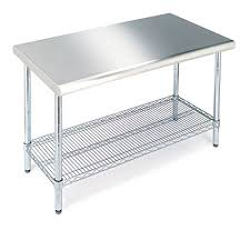 stainless steel table top. Seville Classics SHE18308 Commercial Stainless Steel Top Worktable Table