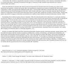 autism essays